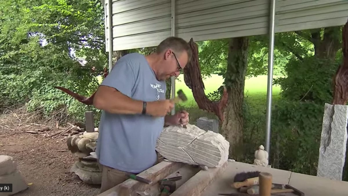 Charlie Hunt Stone Carver on NPT's Tennessee Crossroads